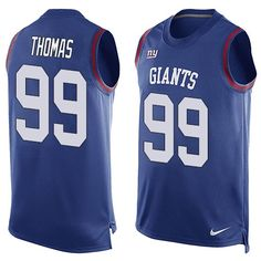 Men's Nike New York Giants #99 Robert Thomas Limited Royal Blue Player Name & Number Tank Top NFL Jersey