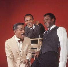 """""""Vintage Black Glamour"""" Tumblr Favorites - Sammy Davis, Jr., Harry Belafonte and Sidney Poitier in an outtake from their February 4, 1966 LIFE magazine cover. Thank you Reggie Hudlin! Photo: Philippe Halsman/Magnum Photos. Photo"""