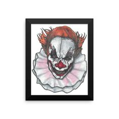 Scary Clown by Robert Bowen Framed Poster
