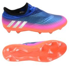 d9ebe34ce Adidas Messi 16+ PureAgility FG Soccer Cleats (Blue White Solar Orange)
