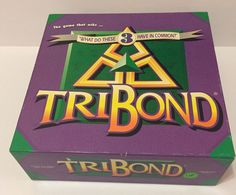 "1992 TRIBOND Board Game ""What do these 3 have in common?"" ages 12+ GUC  