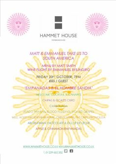 Upcoming events this Autumn & Winter @ Hammet House