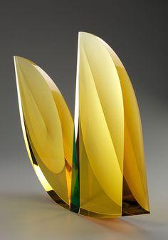 """Ledorello"", by Martin Rosol | 17.5 x 18 x 5.5 inches; cut crystal, sandblasted and polished"