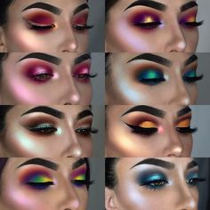 """Gefällt 46.5 Tsd. Mal, 1,102 Kommentare - F R A N C E S C A (@littledustmua) auf Instagram: """"I love matching my highlighter with my eyeshadow Which look do you like the most? What would you…"""""""