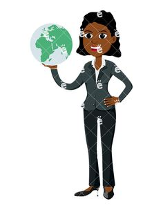 A Black Businesswoman Holding The World In Her Palm:  #accounting #adorable #affiliate #african #african-american #american #attractive #banker #black #boss #burden #business #businessdirector #businesswoman #capitalist #career #carrying #cartoon #CEO #character #clipart #company #conficence #confident #conquer #conqueror #corporate #corporation #curvy #cute #dominance #dominant #drawing...