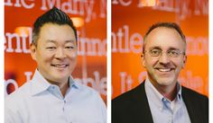 Fuhu president and co-founder Robb Fujioka, left, and Fuhu CEO Jim Mitchell.