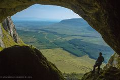 Diarmuid and Grainnes cave which is the highest cave in Ireland in the Dartry Mountains , Sligo