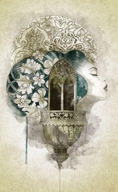 Stone Flowers  by Marine Loup mixed_media