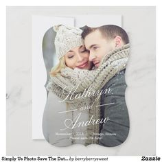 Cheap Save The Dates, Modern Wedding Save The Dates, Destination Wedding Save The Dates, Simple Elegant Wedding, Save The Date Photos, Save The Date Cards, Save The Date Invitations, Simple Wedding Invitations, Elegant Wedding Invitations