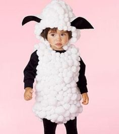 Mary had a little lamb! Look at this costume made out of ears and cotton balls, maximum price- $5