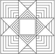 25 Ohio Star Quilting Designs – AQS OnPoint 25 ideas for quilting Ohio Star blocks. Barn Quilt Designs, Barn Quilt Patterns, Star Quilt Blocks, Star Quilts, Perler Beads, Blackwork, Missouri, Machine Quilting Patterns, Quilting Ideas