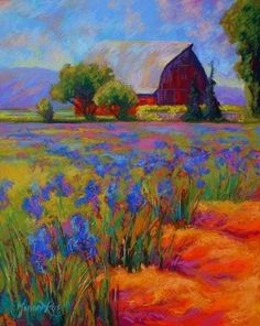 Iris Fields by Marion Rose - Wow, stunning. I love all the shades of purple.
