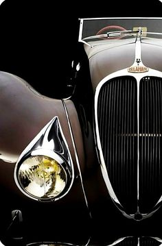 1937 Delahaye Roadster Maintenance/restoration of old/vintage vehicles… Auto Retro, Retro Cars, Vintage Cars, Antique Cars, Carros Retro, Automobile, Ex Machina, Alfa Romeo, Hot Cars