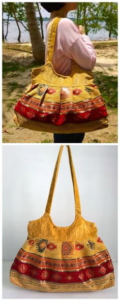 Boho Shoulder Bag - Embroidery bag - Ethnic Handmade Bag ( FREE SHIPPING WORLDWIDE )