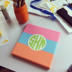Monogrammed canvas for my future little... a must