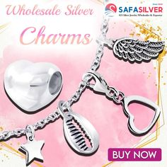 Wholesale silver jewelry At safasilver.com, you can find our sterling silver beads and charms at a wide range of price points. Prices for silver beads and charms start under a dollar. #silver #jewelry #handmade #fashion #accessories #sterlingsilver #style #jewelryaddict #silverjewelry #silver #jewelry #handmadejewelry #handmade #jewellery #accessories #fashionjewelry #heart #charms #beads #sea #shell #cowri #star #wing Silver Charms, Silver Beads, Wholesale Silver Jewelry, Fashion Jewelry, Fashion Accessories, Handmade Jewelry, Jewelry Design, Charmed, Personalized Items