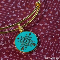 ALEX AND ANI Arrows of Friendship Charm Bangle! This CHARITY BY DESIGN Bangle supports Best Buddies!