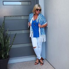 O n  t h e  b l o g: I'm talking all things @bohemian.traders and showcasing glorious threads from the Moroccan Summer collection. Can't deny it, I'm a smitten kitten! I R I S  M A Y  S T Y L E Direct link in profile  Top & wrap @bohemian.traders  Jeans @seedheritage  Shoes @countryroad  Sunnies @officialmauijim from @eyecareplus.mooloolaba