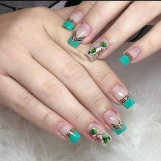 Nail Tip Designs, Classy Nail Designs, Fall Nail Art Designs, Diy Acrylic Nails, Summer Acrylic Nails, Glitter Nail Art, Chic Nails, Stylish Nails, Swag Nails