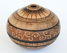 Mike Jackofsky Triskele woodburned bowl