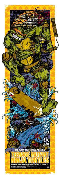 Teenage Mutant Ninja a Turtles - Michelangelo by Rhys Cooper