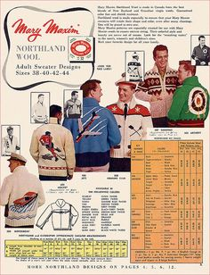 Mary Maxim Catalog, 1957 fourth from left sweater is a bit of a Boyd family heirloom