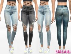 332 – Ripped Skinny Jeans With Tights – The Sims 4 Catalog 332 – Enge Röhrenjeans mit Strumpfhose – The Sims 4 Catalog Sims 4 Mods, Sims 1, Sims Four, The Sims 4 Bebes, The Sims 4 Cabelos, Best Sims, Sims4 Clothes, Sims 4 Gameplay, Sims 4 Cc Packs
