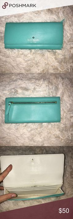 Kate Spade wallet Tiffany blue Kate Spade wallet in great condition! kate spade Bags Wallets