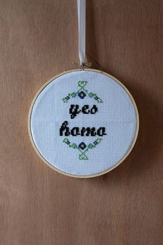Yes Homo  6 cross stitch by FallenDesigns on Etsy, $30.00