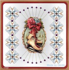 Voorbeeldkaart - Kerstkaart geborduurd - Categorie: Borduren - Hobbyjournaal uw hobby website