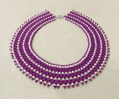 Free pattern for necklace Piona Click on link to get pattern - http://beadsmagic.com/?p=5962
