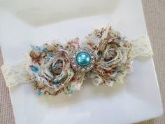 ivory baby headband antique vintage headband by hartsandflowers, $8.00