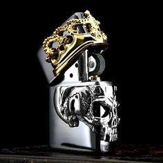Zippo Lighter Beauty Beast Side Crown Skull Metal Black Best Buy From Japan New