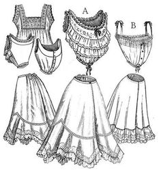 Edwardian Underwear Pattern $18.95  #Ad