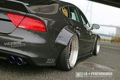 Audi A7/S7 в широком обвесе  Liberty Walk, на пневме и со злым выхлопом