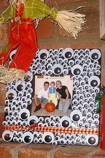 halloween craft. New family photo frame.