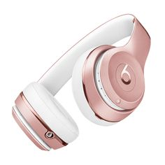 Beats Solo3 Wireless Headphones - Beats by Dre so for years I have been asking myself whats up with Beats by Dr. Dre (being they r like super expensive ) yet now I find myself like totally wanting them for my London/Paris trip ... maybe its the color because it just has to match with my MacBook computer and my iPhone 6S ... lol