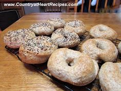 Country at Heart Recipes: Sourdough Whole-Wheat Bagels