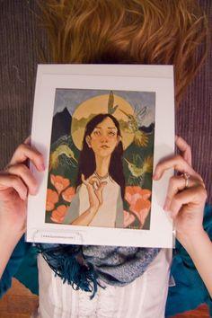 Hummingbird Thoughts  Fine Art Giclee Print by laurenmoyer on Etsy, $20.00 #hummingbird