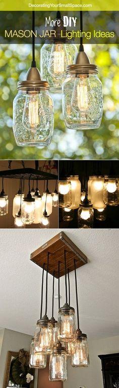 More DIY Mason Jar Lighting Ideas and Tutorials! by fashion clothing