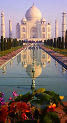 The Taj Mahal is a white marble mausoleum built by Mughal emperor Shah Jahan in memory of his third wife, Mumtaz Mahal ~ Agra.