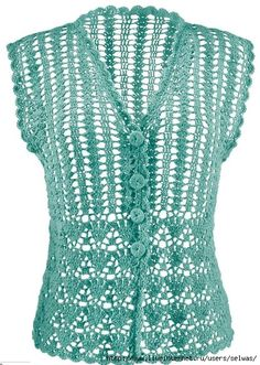 Women openwork mesh summer crochet blouse- with diagrams