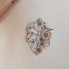 Leo Lion and Sunflowers Tattoo Design Tattoo Ide Leo Lion Tattoos, Leo Symbol Tattoos, Leo Zodiac Tattoos, Horoscope Tattoos, Weird Tattoos, Symbolic Tattoos, Body Art Tattoos, Tattoo Drawings, Sleeve Tattoos