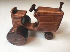 Handmade wooden toy tractor wooden car by miroswoodworking on Etsy Wooden diy - Wooden crafts - Wood