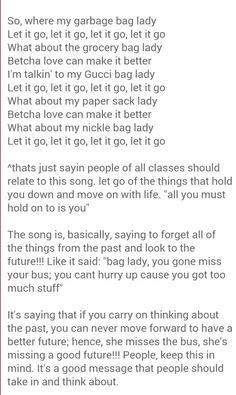 Bag lady lyrics by erykah badu