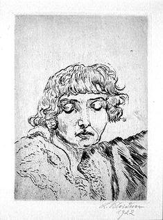 Ludwig Meidner (German, 1884-1966), Frau Bella Chagall