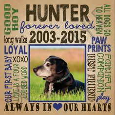 Dog Memorial Gift Personalized Custom Printable In by SubwayStyle