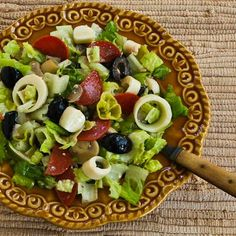 Recipe for Kalyn's Favorite Antipasto Chopped Salad (and Tips for Satisfying Salads at Home).  [from Kalyn's Kitchen] #LowCarb  #GlutenFree  #HealthyNewYear