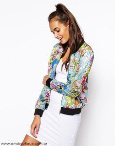 Jaqueta Estampada Desenhos Disney - DMS Boutique