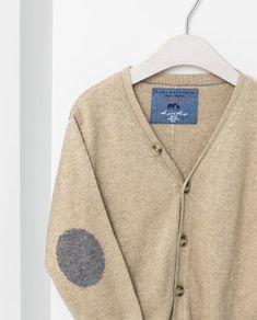 ZARA - KIDS - BASIC CARDIGAN WITH ELBOW PATCHES